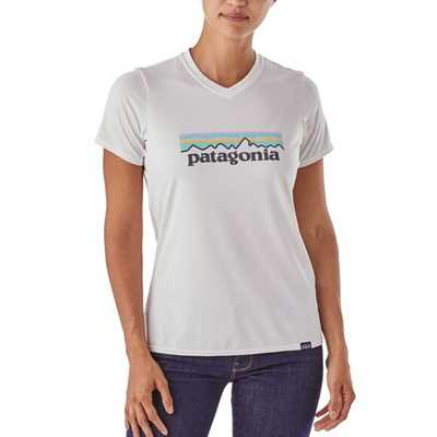 Maglie - Pastel white - Donna - T-Shirt tecnica Donna Ws Cap Daily Graphic T-Shirt  Patagonia